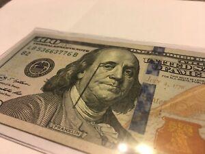 super rare Misprinted One Hundred Dollar Bill $100 Error
