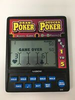 Radica Poker 914 Draw Deuces Electronic Hand Held Game 1 or 2 Players