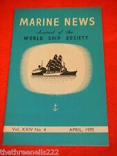 MARINE NEWS - APRIL 1970 VOL XXlV # 4