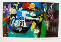Pablo Picasso NIGHT FISHING AT ANTIBES Estate Signed & Numbered Small Giclee