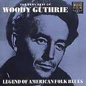 WOODY GUTHRIE:LEGEND OF AMERICAN FOLK BLUES 1992 CD This Land Is My Land etc.