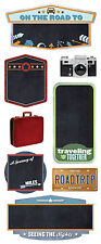 Paper House ROAD TRIP Chalkboard Stickers scrapbooking SUITCASE CAMERA