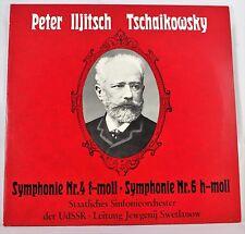*-Vinyl-LP -TSCHAIKOWSKY - Symphonie Nr. 4 und Nr. 6 - Jewgenij SWETLANOW