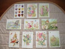 10 Hallmark Nature's Sketchbook by Marjolein Bastin Itty Bitty Greeting Cards