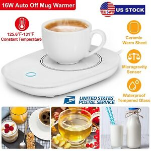 Smart Electric Coffee Cup Mug Warmer Tea Milk Drink Heater Pad Auto Shut Off