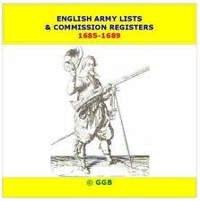 ENGLISH ARMY LISTS & COMMISSION REGISTERS 1685-1689 CD ROM