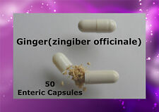 Ginger (zingiber officinale) 50 Enteric Caps Capsules delayed release Pure