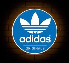 ADIDAS Originals Scarpe Da Ginnastica LOGO BADGE shop sign LED LIGHT BOX UOMO GROTTA sala giochi