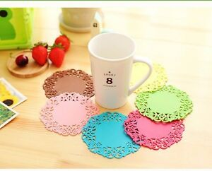 Silicone Round Coaster Pad Cup Cushion Holder Drink Placemat Tea Mat