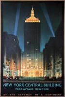 New York Central Building Vintage Travel Art Print Mural Poster 36x54 inch