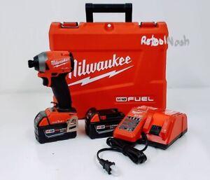 "Milwaukee 2857-22 M18 FUEL 1/4"" Hex Impact Driver Kit w/1-Key Compatible"
