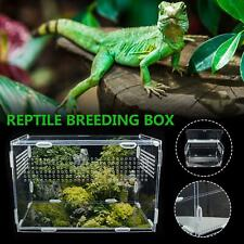 Large Reptile Breeding Box Acrylic Terrarium Pet Tank Insect Spiders Lizard Cage