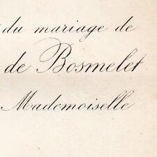 Gentien Augustin Thomas De Bosmelet 1876 Marie Boissaux