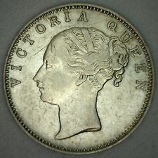 1840 b India Silver One Rupee Coin KM #457.3 XF XF Extra Fine Silver Coin K31