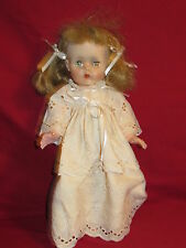 """Baby Doll in white dress 15"""" Eyes Close when she lays down 1990's era"""