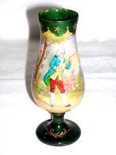 Limoges Jugendstil Emaille Vase Kupfer emailliert handgemalt signiert A.Lèo