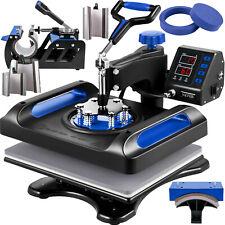 Vevor Heat Press Machine Sublimation Machine 12 X 15 Inch 8 In 1 Blue Heat Press