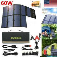 Suaoki 60W Solar Panel Solar Battery Charger Portable Dual Port Power Bank Hot
