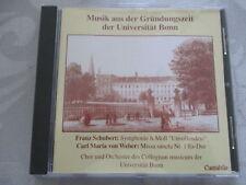Musik aus der Gründungszeit der Universität Bonn Schubert Weber - Mik, Fuhs - CD