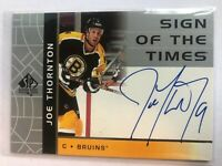 2002-03 SP Authentic Sign of the Times #JT Joe Thornton