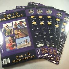 1000 Ultra Pro 3-pocket páginas 4x6 Hojas Protectores Nueva Foto Postal Recarga