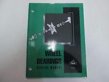2004 Mack Wheel Bearings Service Repair Shop Manual DISASSEMBLY HUB REAR AXLE