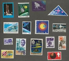 SPACE AND TELECOMS THEMATICS - FIFTEEN STAMPS
