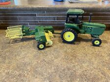 ERTL John Deere Tractor With 585 Square Bailer  Made USA 🇺🇸 Vintage Metal