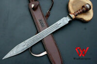 Custom Handmade Damascus Steel 30 inches Hunting Sword with Sheath