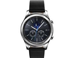 Samsung Gear S3 33mm Edelstahl Gehäuse in Silber mit Klassisches Lederarmband in Schwarz (Ohne Simlock) - SM-R770NZSADBT