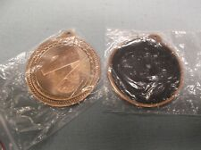 New listing lot of 14 bronze CHEERLEADING medals award with black backing