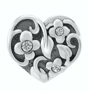 CHAMILIA Love Heart Sterling Silver Heart Charm ~ New in Pouch