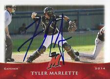 Tyler Marlette 2014 High Desert Mavericks Signed Card
