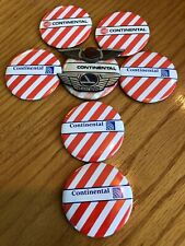 Vintage Lot of 7 Continental Airlines Pin Pinback Buttons Old & New Logo & Wings