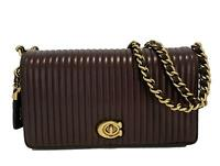 NEW, COACH 'QUILTED DINKY' PLUM LEATHER BAG, $650