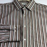 Banana Republic Men Long Sleeve Button Up Shirt XXL 2XL Multicolor Stripes Slim