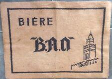 ANCIEN ET RARE TAPIS DE CARTES BIERE B.A.O. BRASSERIE ALGERIENNE D' ORAN