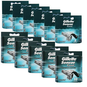 80x Gillette Sensor Excel Klingen Rasierklingen / 6x 5er OVP + 5x 10 Set = 80er