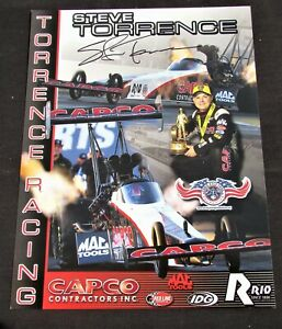 Steve Torrence Capco Contractors Top Fuel NHRA Autographed HANDOUT / POSTCARD
