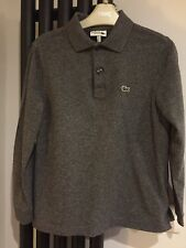 LACOSTE Long Sleeve Polo Shirt slim fit in Dark Grey Mens XS/Boys aged 13-14