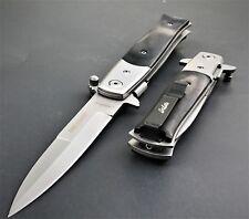 "TAC FORCE SPRING ASSISTED TACTICAL STILETTO POCKET KNIFE Blade Assist Open 8.5"""