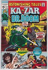 Astonishing Tales #5 F-VF 7.0 Ka-Zar Doctor Doom Red Skull!