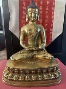Chinese Bronze Copper Gilt Buddha