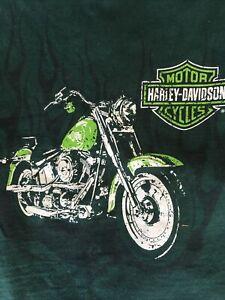Hanes Harley Davidson Tagless Toddler 2-4 EUC Green Tshirt FREE SHIPPING!