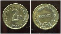 FRANCE 2 francs 1944  FRANCE LIBRE  ( 3 )