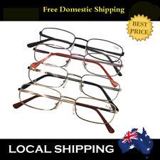 Eye Gear Men's Gold Silver Black Reading Glasses 1.0 1.5 2.0 2.5 3.0 3.5 4.0