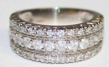 Splendido 18 KT Oro Bianco Diamante Pave Set Fascia 1.00 KT Taglia L
