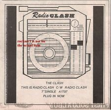 CLASH This Is Radio Clash small UK Press ADVERT 5x5 inches