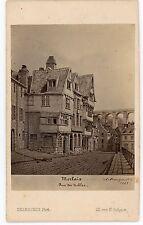 PHOTO CDV  MORLAIX rue des nobles Desroches Phot. 1860