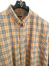 Burberry Men's Nova Check 4XL Shirt Signature Plaid Long Sleeve 4XT 4XLT